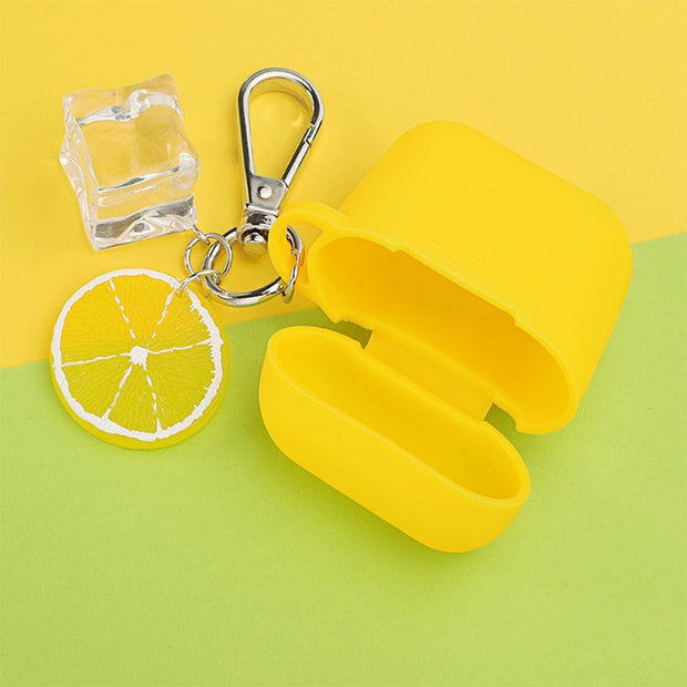 Ice Cubes & Lemon Silicone Airpods Case
