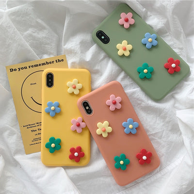 Lovely 3D Flower Silicone iPhone Case | iPhone XSM/XS/XR/8/7/6