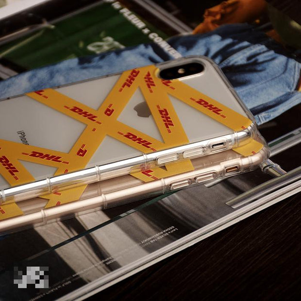 DHL Transparent Pattern Soft Phone Case
