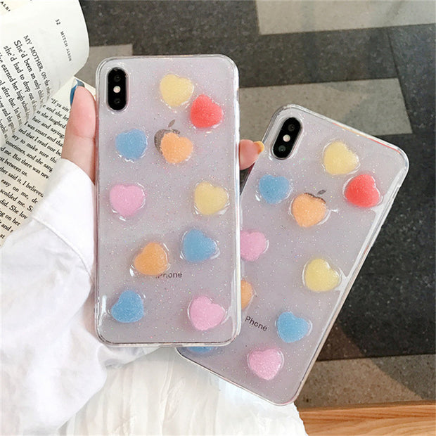 3D Candy  Love Heart iPhone Case