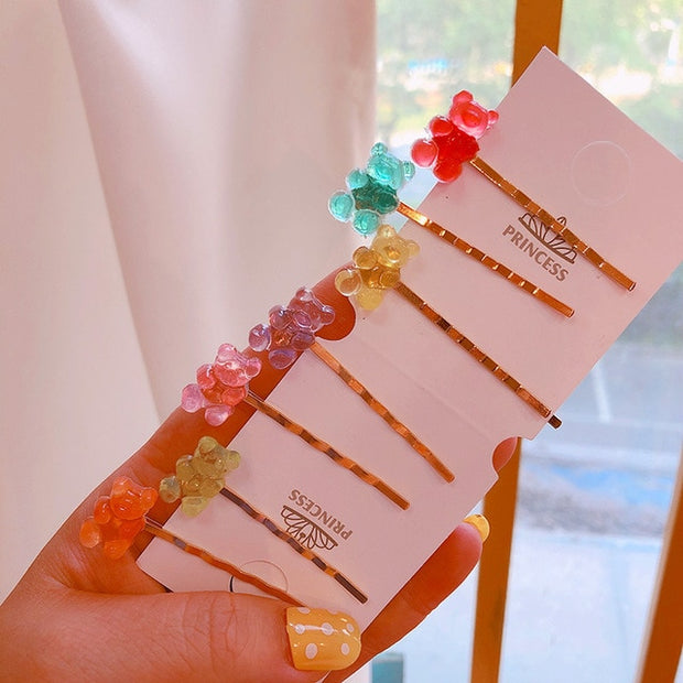 Cute Gummy Bear Hairpins