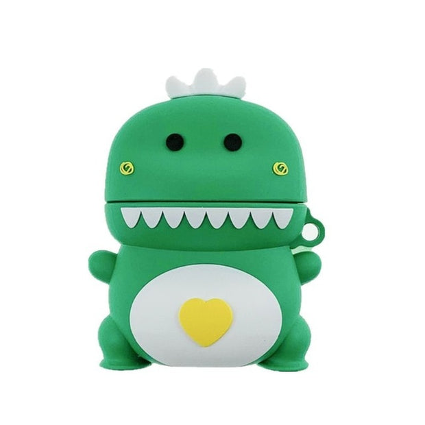 Love Heart Dinosaur Soft Silicone Protective Airpods Case