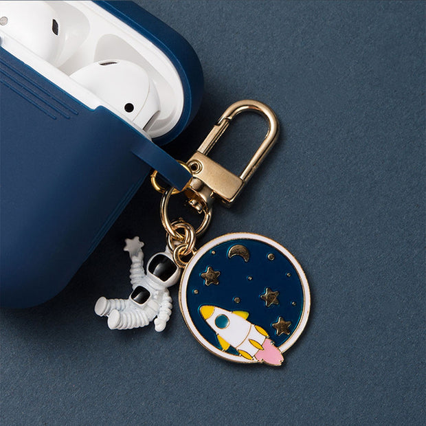 Cosmic Astronaut Spaceman Silicone Airpods Case