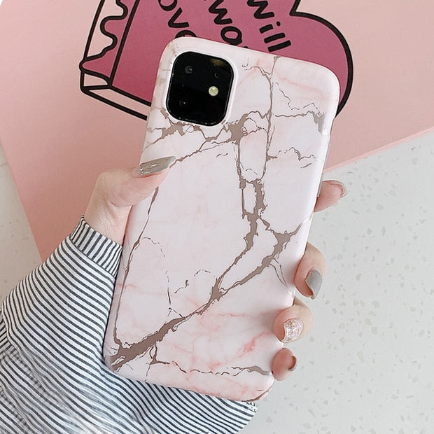 Luxury Shiny Gold Line Laser Marble Phone Case | iPhone 11/Pro/Max/ 10/Pro/Max/X/XS/XR/8/7/6