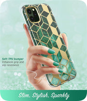 Glitter Marble Bumper Case with Built-in Screen Protector | iPhone 11 Pro Max