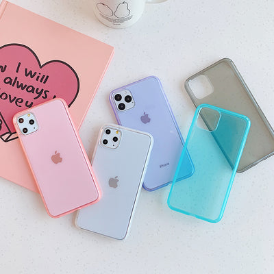 Clear Candy Color Silicone Case