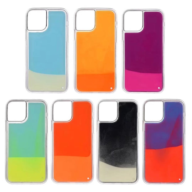 Luminous Neon Sand Liquid Quicksand Phone Case |  iPhone 11/Pro/Max/ 10/Pro/Max/X/XS/XR/8/7/6