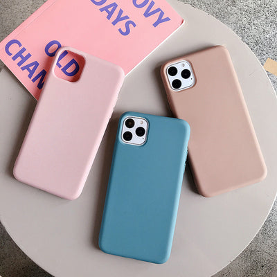 Luxury Plain Soft Silicone Phone Case | iPhone 11/Pro/Max/ 10/Pro/Max/X/XS/XR