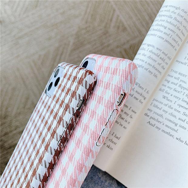 Warm Plaid Cloth Fabric Phone Case  | iPhone 11/Pro/Max/ 10/Pro/Max/X/XS/XR/8/7