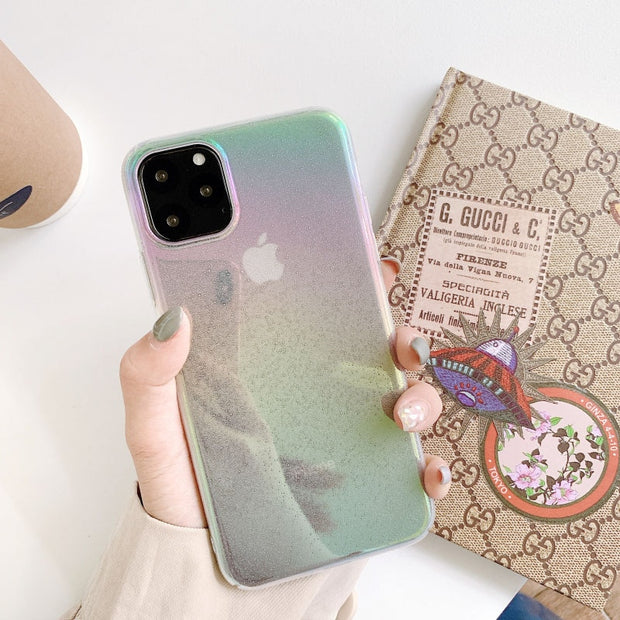 Coloful Laser Hard Phone Case