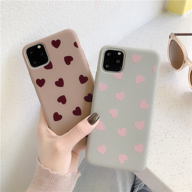 Retro Love Heart Phone Case | iPhone 11/Pro/Max/ 10/Pro/Max/X/XS/XR/8/7/6