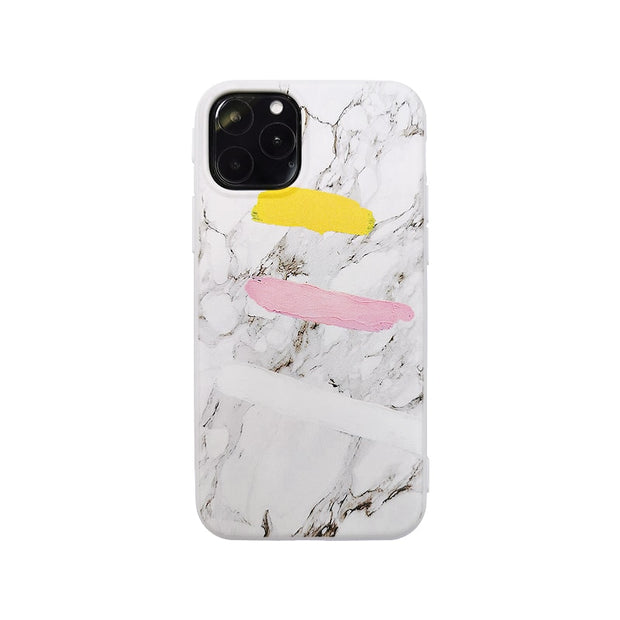 Colorful Artistic Marble Soft iPhone Case