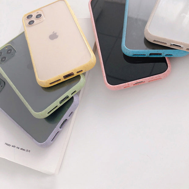 Candy Color Clear Bumper iPhone Case