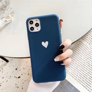 Matte Love Heart Silicone Case | iPhone 11/Pro/Max/ 10/Pro/Max/X/XS/XR/8/7/6