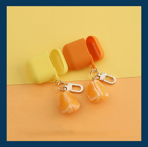 Cute Orange Silicone Airpods Case