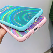 Rainbow Texture Mirror Soft Phone Case | iPhone 11/Pro/Max/ 10/Pro/Max/X/XS/XR/8/7