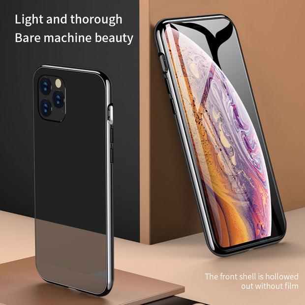 Metal Magnetic Tempered Glass Case |  iPhone 11/Pro/Max/ 10/Pro/Max/X/XS/XR/8/7/6