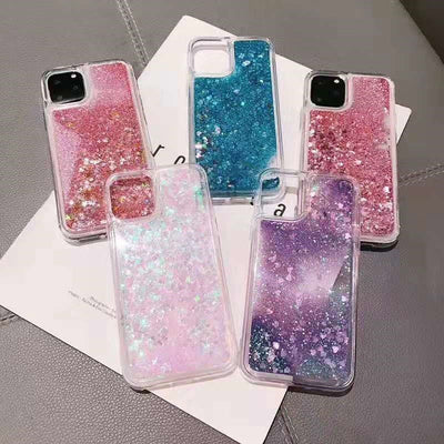 Dynamic Glitter Liquid Quicksand Phone Case