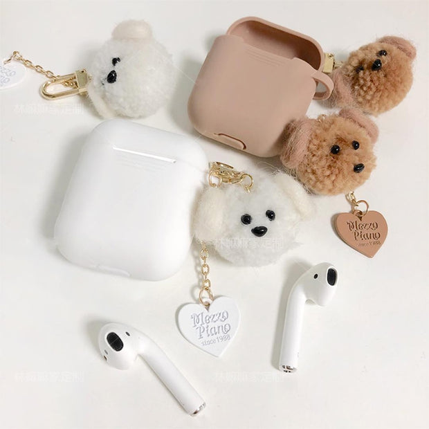 Cute Soft Luxury Teddy Dog Case For AirPods