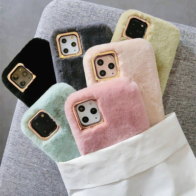 Winter Warm Furry Plush Phone Case  | iPhone 11/Pro/Max/ 10/Pro/Max/X/XS/XR/8/7/6