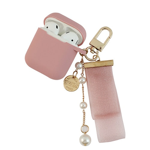 Luxury Pendant Key Ring Soft Case For Airpods