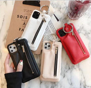 Luxury Zipper Pu Leather Wallet Case | iPhone 11/Pro/Max/ 10/Pro/Max/X/XS/XR/8/7/6