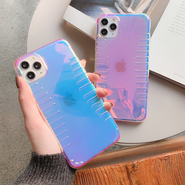 Purple & Pink Shockproof Laser Phone Case | iPhone 11/Pro/Max/ 10/Pro/Max/X/XS/XR/8/7/6