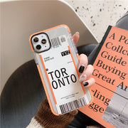 Travel City Boarding Pass Phone Case | iPhone 11/Pro/Max/ 10/Pro/Max/X/XS/XR/8/7/6