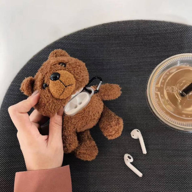 3D Cute Teddy Bear Fluffy Case | Airpods Pro