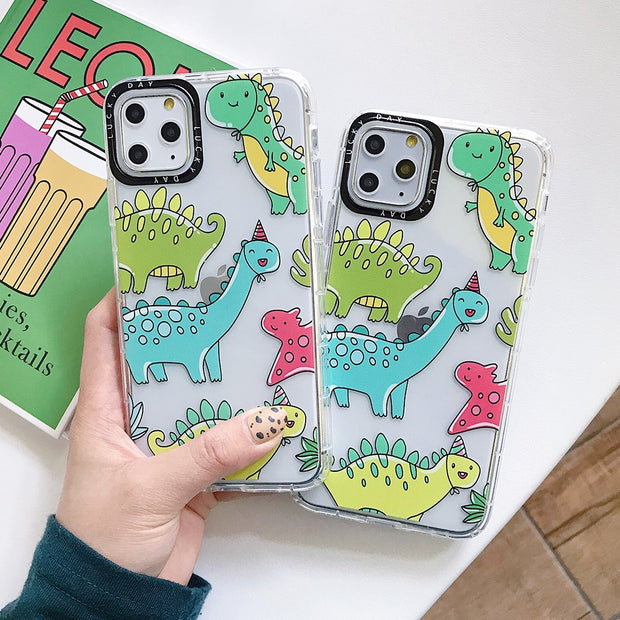 Cartoon Dinosaur Shockproof Camera Protection Phone Case