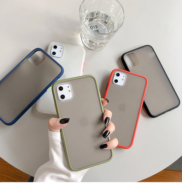 Mint Hybrid Simple Matte Bumper Phone Case | iPhone 11/Pro/Max/ 10/Pro/Max/X/XS/XR/8/7/6