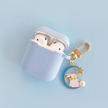 Cute Moon Rabbit Keyring Case | Airpods Pro Case