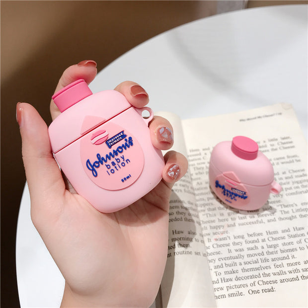 3D  BABY Johnson Lotion Soft Silicone Airpods Case