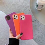 Hot Pink Simple Scrub Candy Phone Case | iPhone 11/Pro/Max/ 10/Pro/Max/X/XS/XR/8/7/6