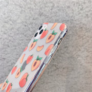Cute Peach Painting Phone Case  | iPhone 11/Pro/Max/ 10/Pro/Max/X/XS/XR/8/7/6