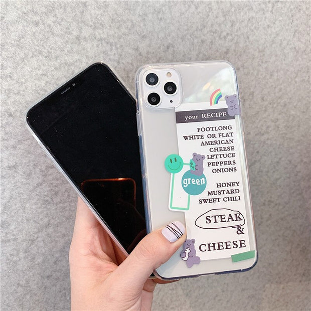 Cute Recipe Phone Case