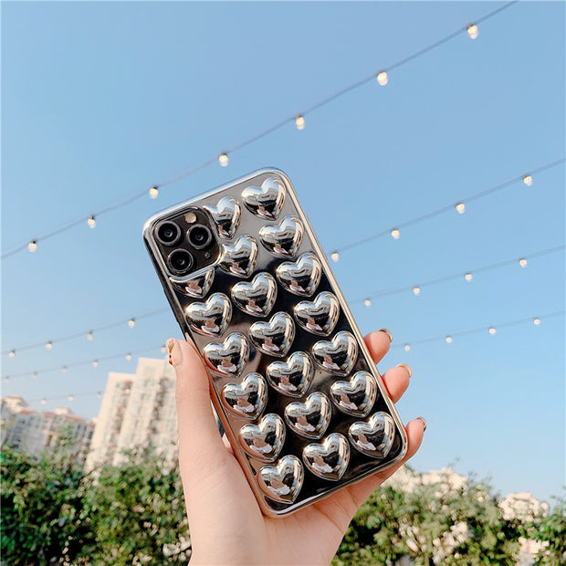 Luxury Plating Sweet Heart Phone Case | iPhone 11/Pro/Max/ 10/Pro/Max/X/XS/XR/8/7/6