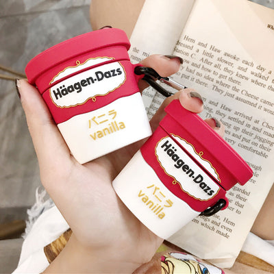 Haagen Dazs Ice Cream Airpods 1/2 Silicone Case