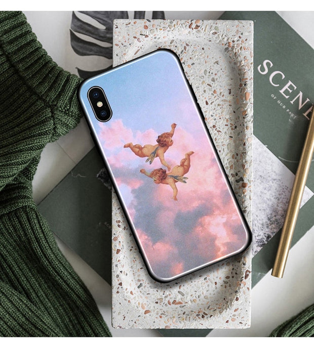 Aesthetic Baby Angels Soft Silicone Phone Case