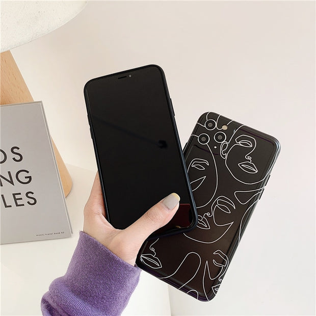 Line Art Painting Abstract Phone Case