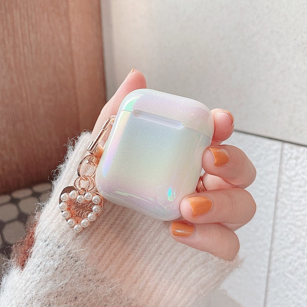 3D Amore Perla Shell Gradient Keychain Airpods Case