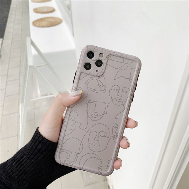 Abstract Line Art Painting Soft Matte Phone Case