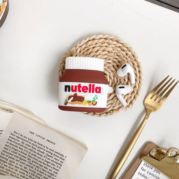 Nutella Hazelnut Sauce Canned Case for AirPods 1 2 pro