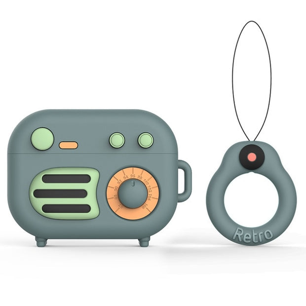 Retro Radio Cute Cartoon Soft Silicone Airpods Case