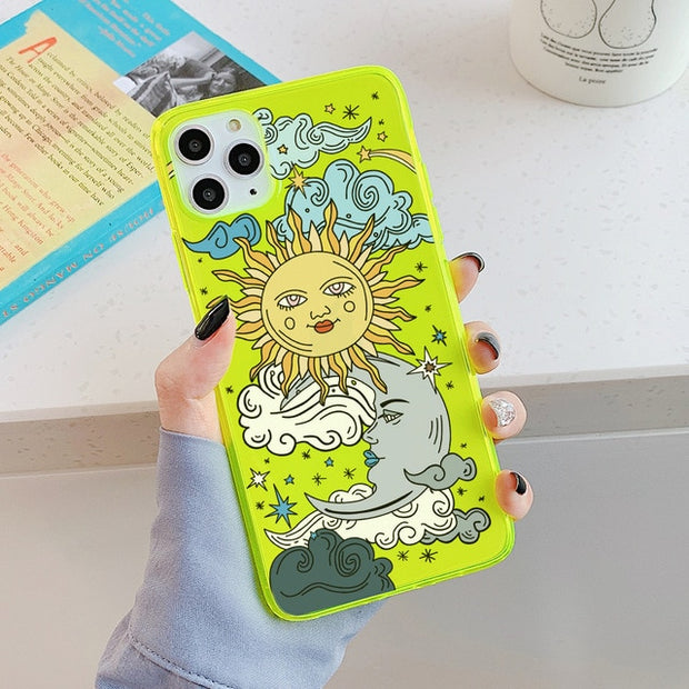 Sun Face Fluorescence iPhone Case