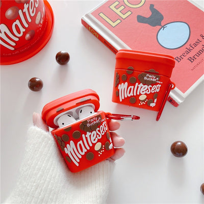 3D Cute Maltesers Party Bucket Airpods Case