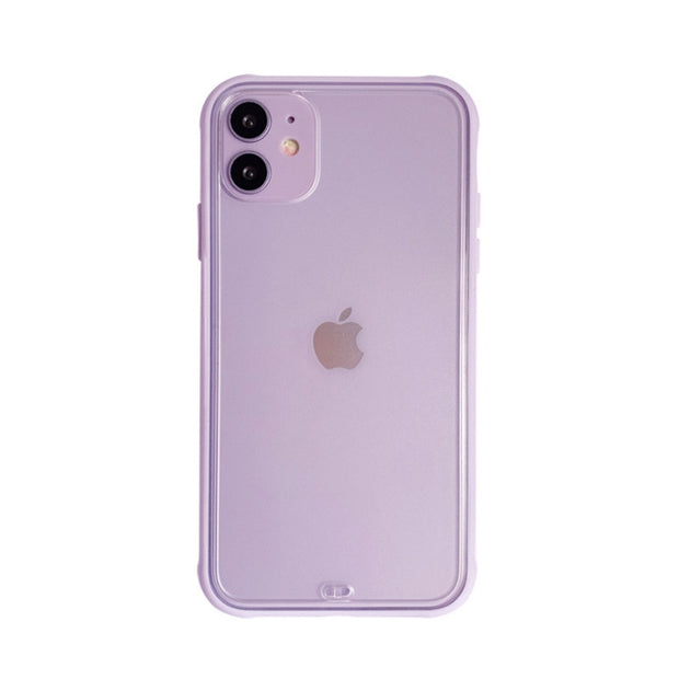 Simple Solid Color Korean Phone Case