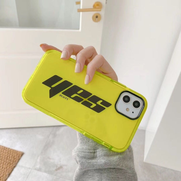 YES & NICE Fluorescent Silicone Phone Case