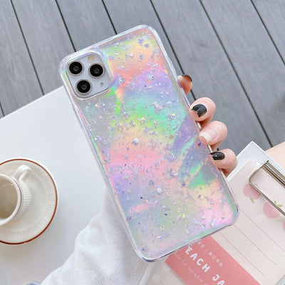 Luxury Laser Sequins Paper Phone Case