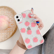 Lovely Fruit Glitter Silicone Phone Case